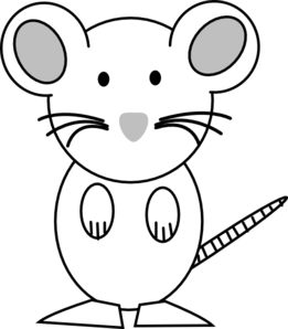 Black And White Mouse Clip Art. rat clipart black and% .