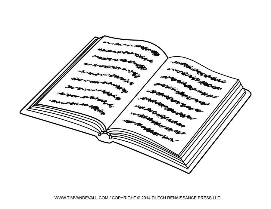 Black And White Open Book Clip Art-black and white open book clip art-0
