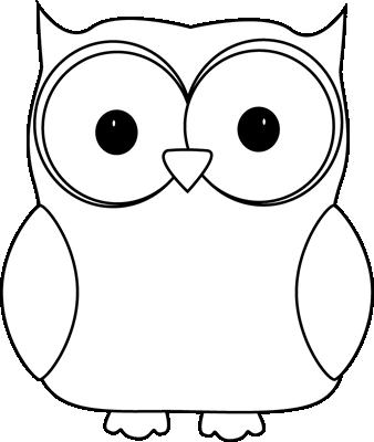 Black and White Owl. Black an - Black And White Owl Clip Art