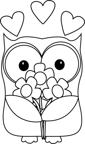 Black And White Owl Clip Art Black And White Owl Image Clipart Cute