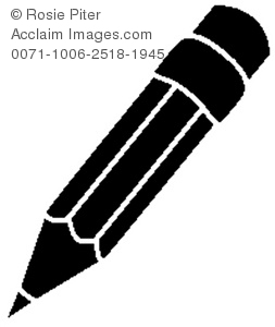 Black And White Pencil Clipart Black And White Pencil Stock