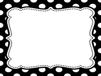 Black and white polka dot clip .