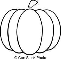 ... Black and White Pumpkin Cartoon Illustration