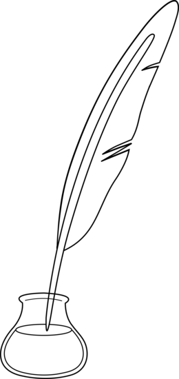Black And White Quill Pen-Black and White Quill Pen-1