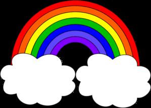 Black and white rainbow outline free cli-Black and white rainbow outline free clipart images 2-9