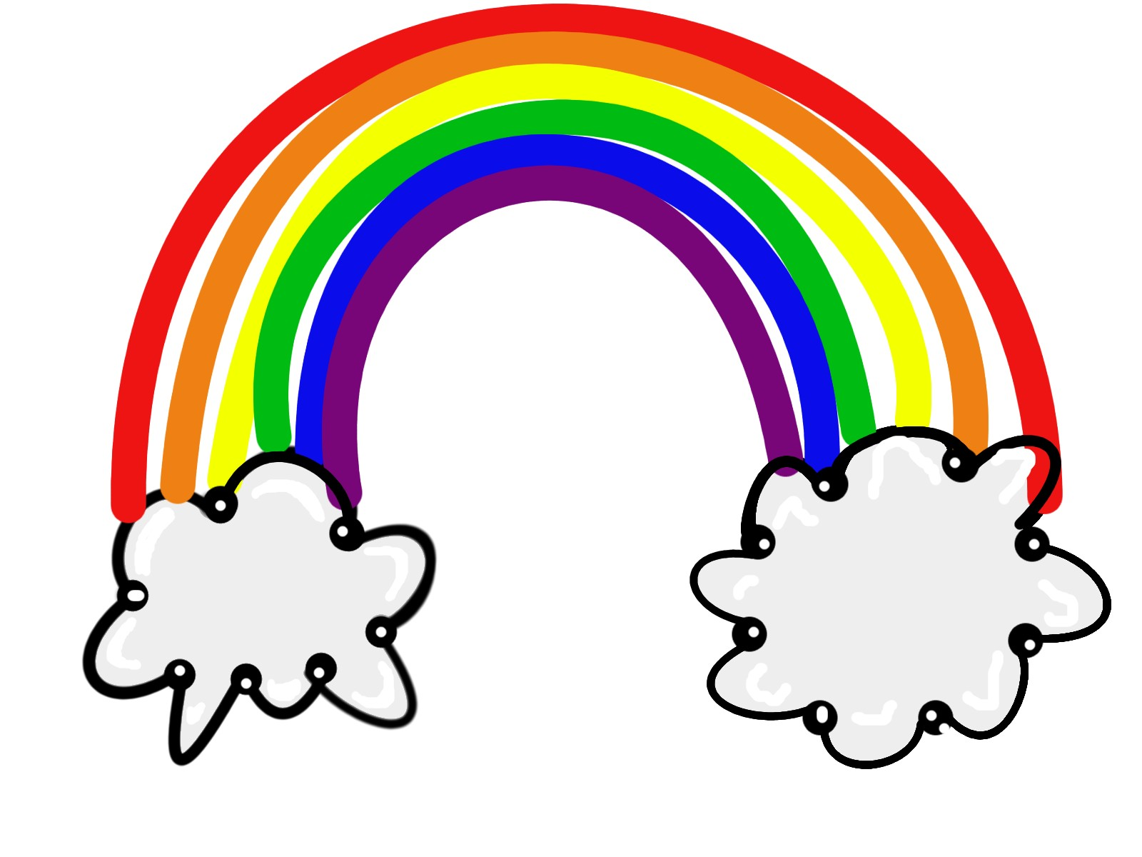 Black and white rainbow outline free clipart images clipartall