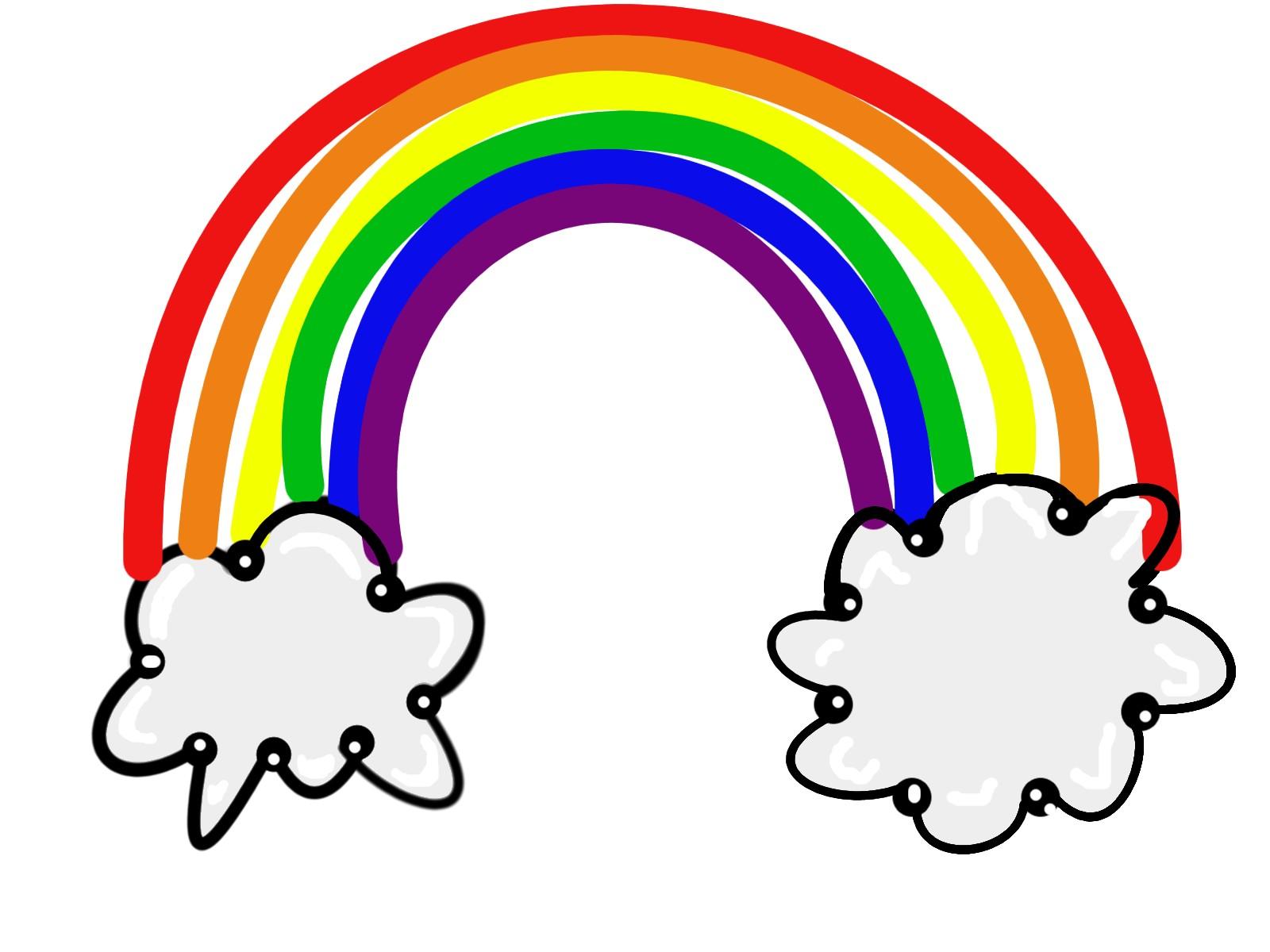 Black and white rainbow outline free cli-Black and white rainbow outline free clipart images clipartall-7