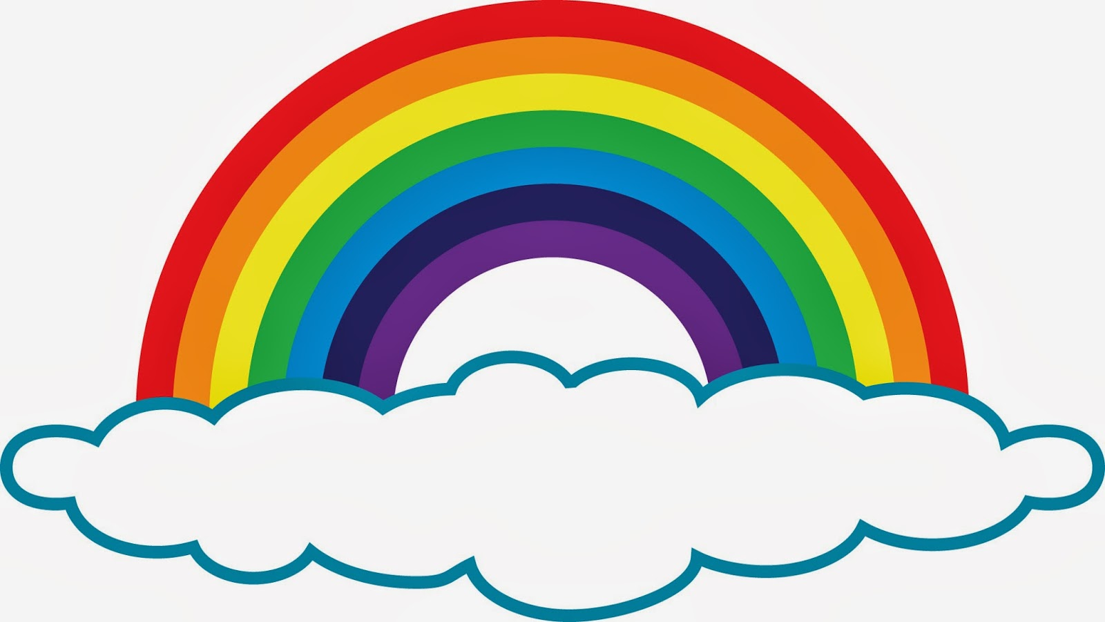Black and white rainbow outline free clipart images