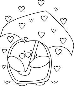 Black And White Raining Valentineu0026#3-Black and White Raining Valentineu0026#39;s Day Hearts clip art image. This-3