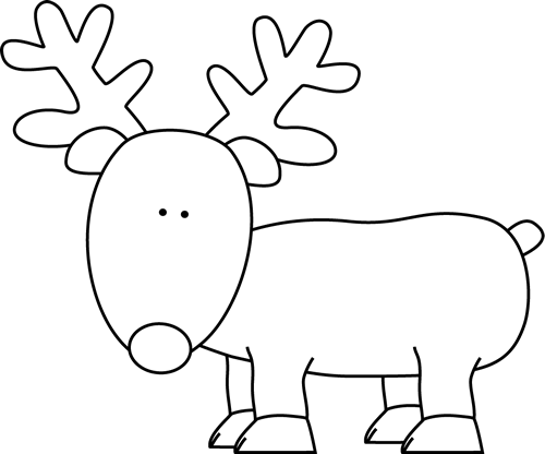 Black And White Reindeer Clip Art Black And White Reindeer Image