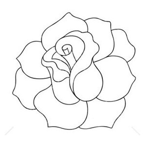 Black And White Rose Clip Art - Black And White Rose Clip Art