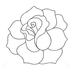 Black And White Rose Clip Art-Black And White Rose Clip Art-4
