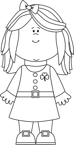 Black And White Saint Patrick S Day Girl-Black And White Saint Patrick S Day Girl Clip Art Black And White-5