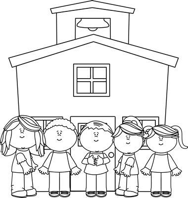 Black And White School Clipart. A Free B-Black and White School Clipart. A free Black and White School .-5
