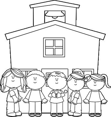 Black And White School Kids At School-Black and White School Kids at School-6
