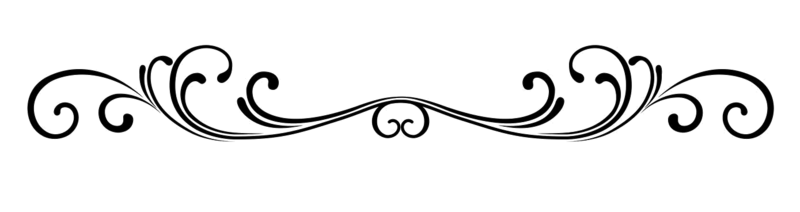 Black and white scroll clipart