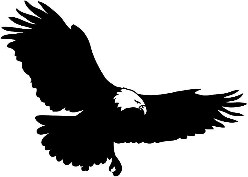 Black And White Silhouette Of Eagle Bald Eagle Silhouette