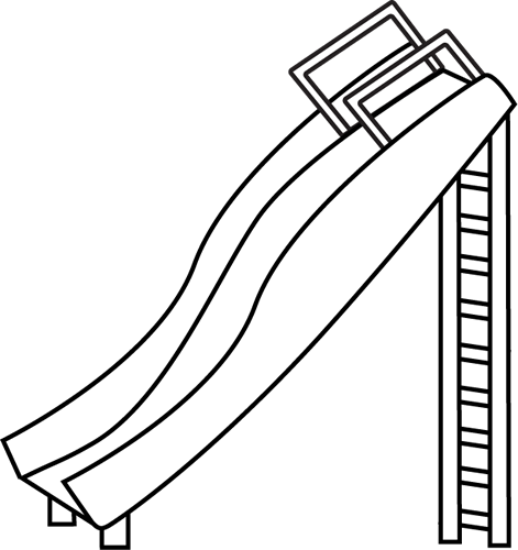 Black And White Slide Clip Art Image Black And White Outline Of A