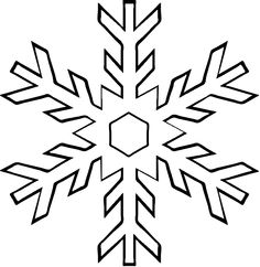 Black And White Snowflake Clipart - Clip-Black And White Snowflake Clipart - clipartall ...-4