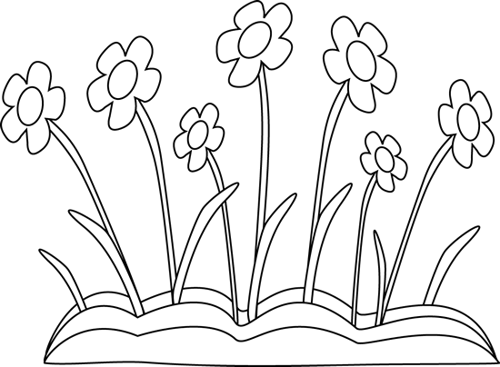 Black and White Spring Flower Patch-Black and White Spring Flower Patch-1