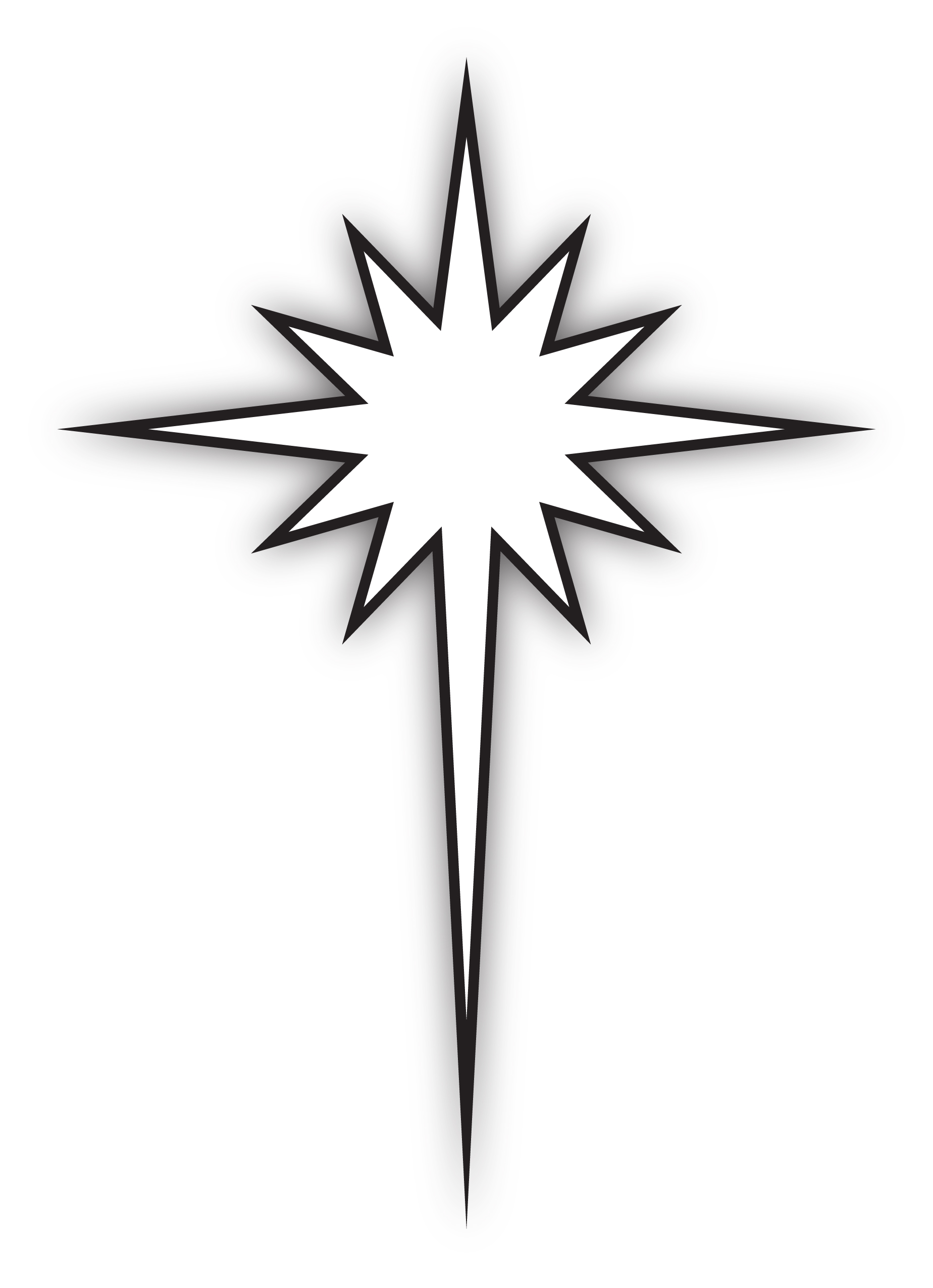 Black And White Star Of Bethlehem Car Tuning