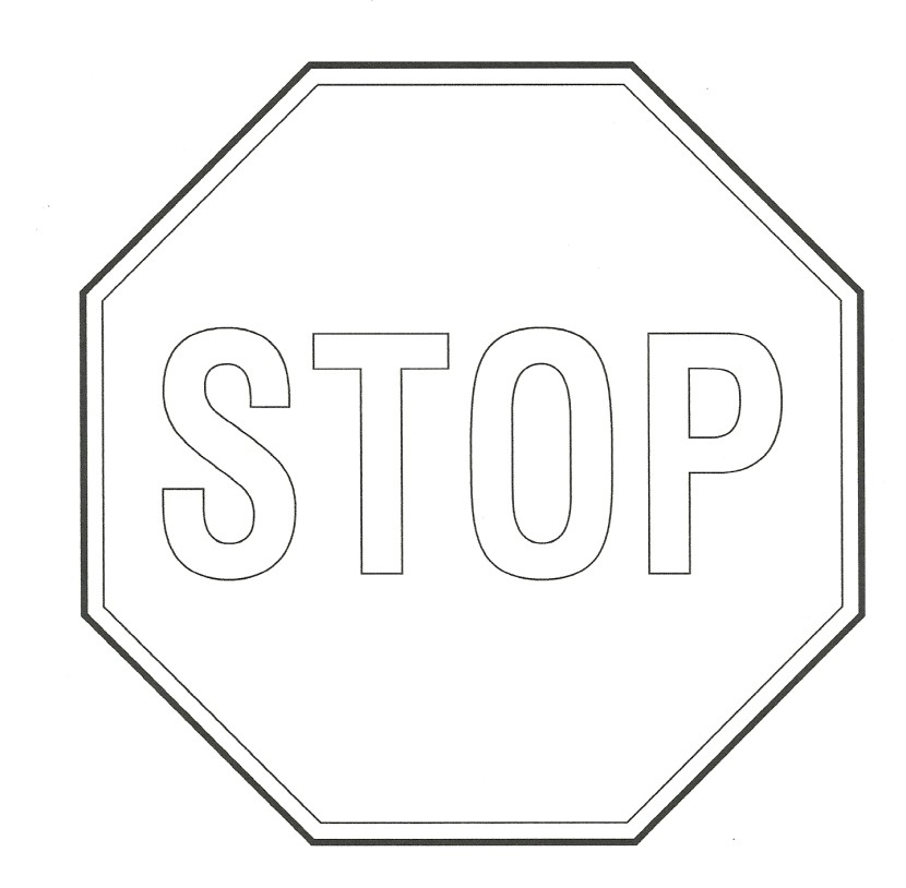 Black And White Traffic Signs-Black And White Traffic Signs-10