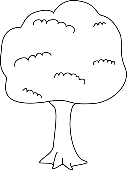 Black and White Tree. Black a - Tree Clip Art Black And White