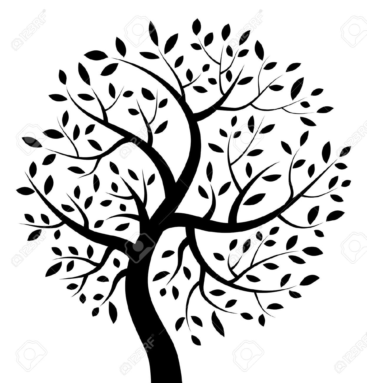 Black And White Tree Of Life .-Black And White Tree Of Life .-4