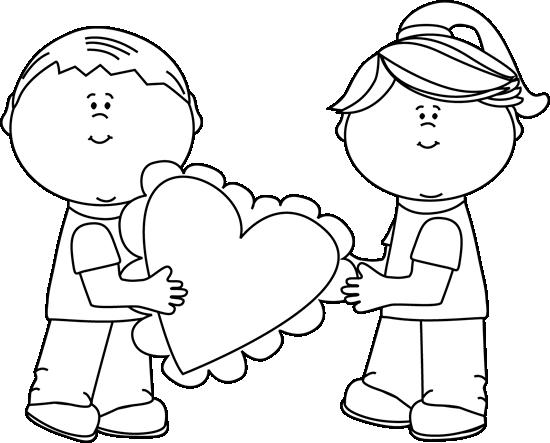 Black And White Valentineu0026#39;s Day -Black and White Valentineu0026#39;s Day Kids-4