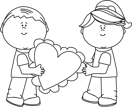 Black and White Valentineu0026#39;s Day Kids
