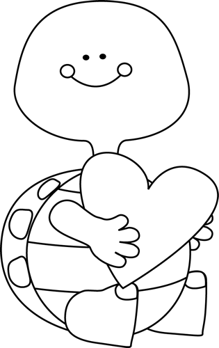 Black And White Valentineu0026#39;s Day -Black and White Valentineu0026#39;s Day Turtle-6