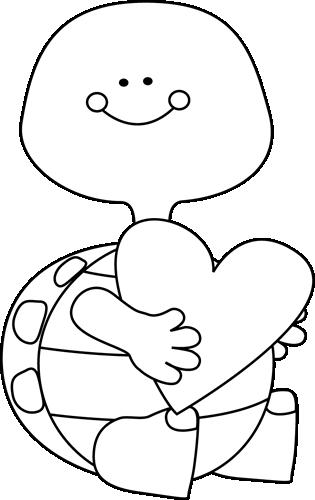 Black And White Valentineu0026#39;s Day -Black and White Valentineu0026#39;s Day Turtle-7