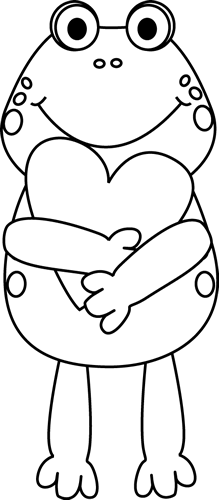 Black And White Valentine Frog-Black and White Valentine Frog-9