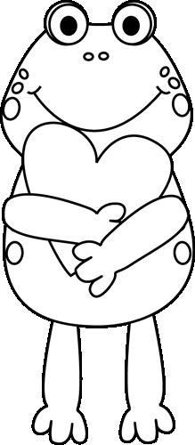 Black And White Valentine Frog-Black and White Valentine Frog-8