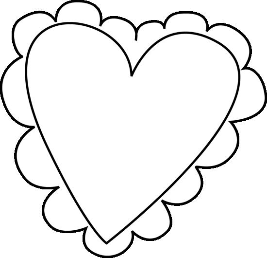 Black And White Valentine S Day Heart Cl-Black And White Valentine S Day Heart Clip Art Black And White-7