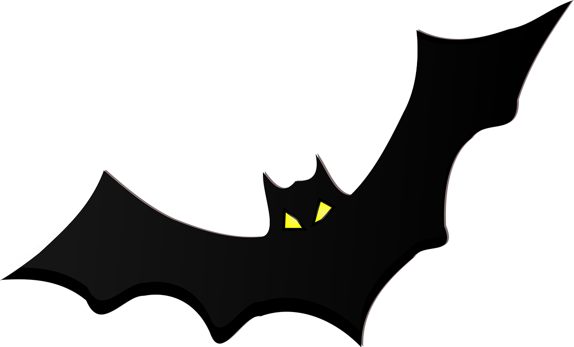 Black bat silhouette yellow eyes PNG ...