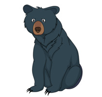 black bear sitting clipart cl - Bear Clipart Images