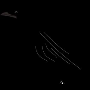 Black bird silhouette clip art free vector image #33488 ...