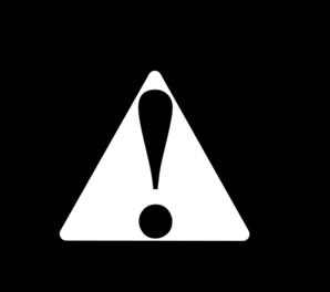 Black Black Warning Clip Art