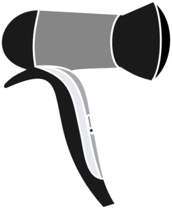 Black Blow Dryer Clip Art