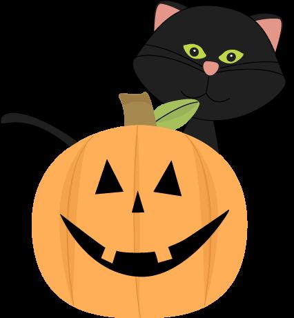 Black Cat Behind Jack-O-Lantern-Black Cat Behind Jack-O-Lantern-0