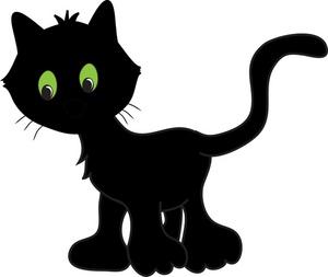 Black Cat Clip Art Image