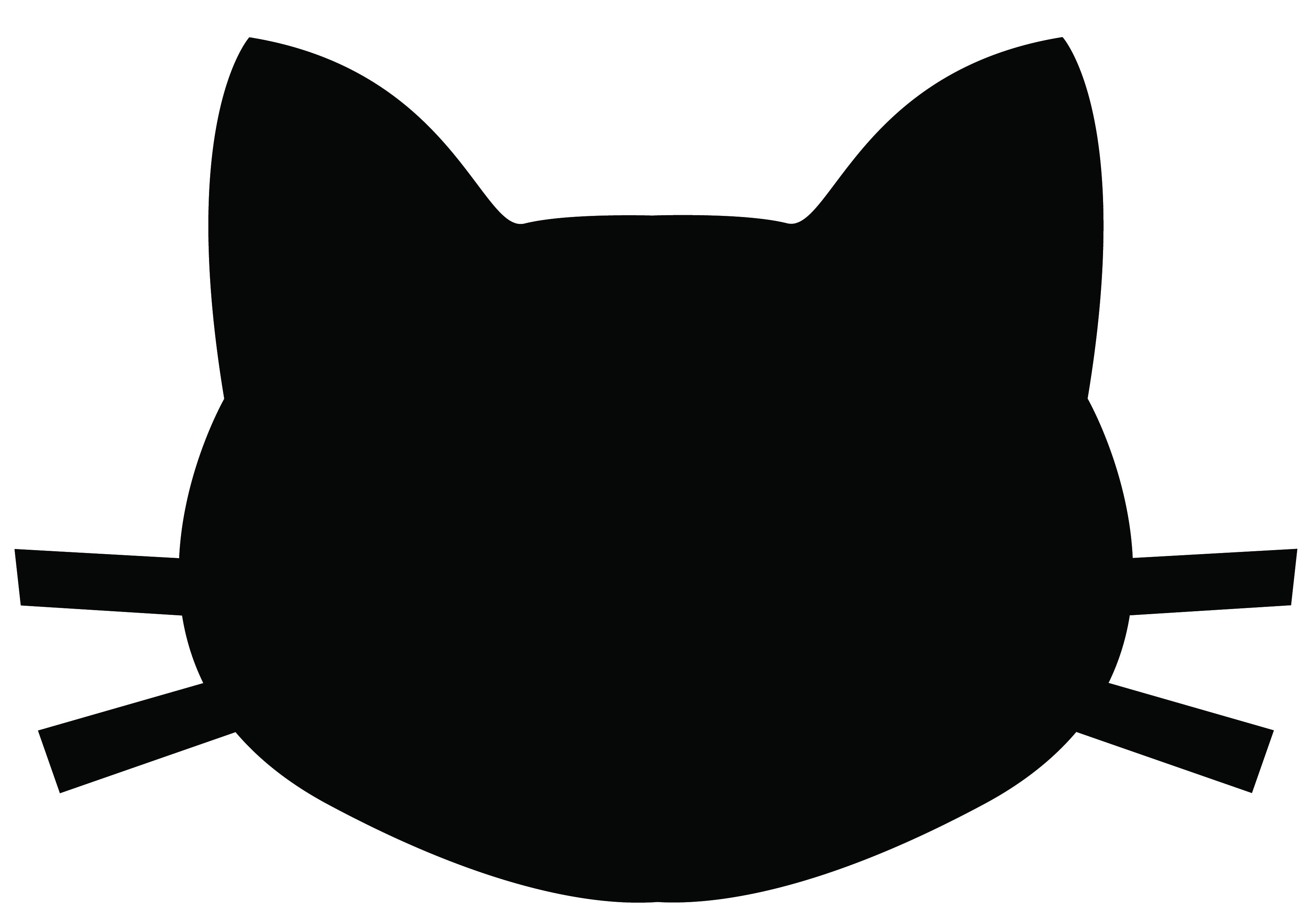 Black Cat Face Clip Art-Black Cat Face Clip Art-0