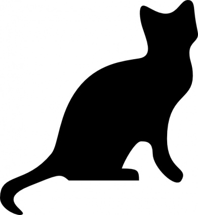 Black Cat Silhouette Clip Art - Clipart library