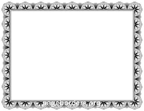 Black Certificate Border