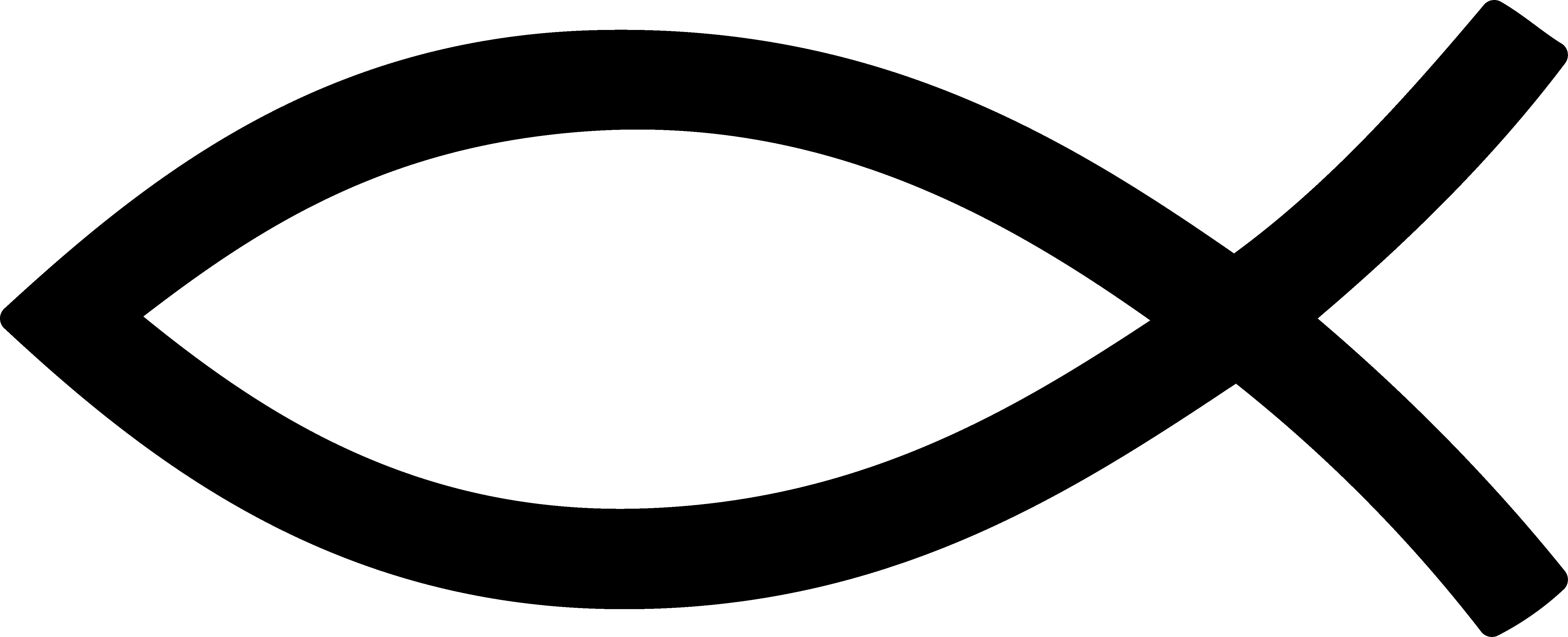 Black Christian Fish Symbol-Black Christian Fish Symbol-4