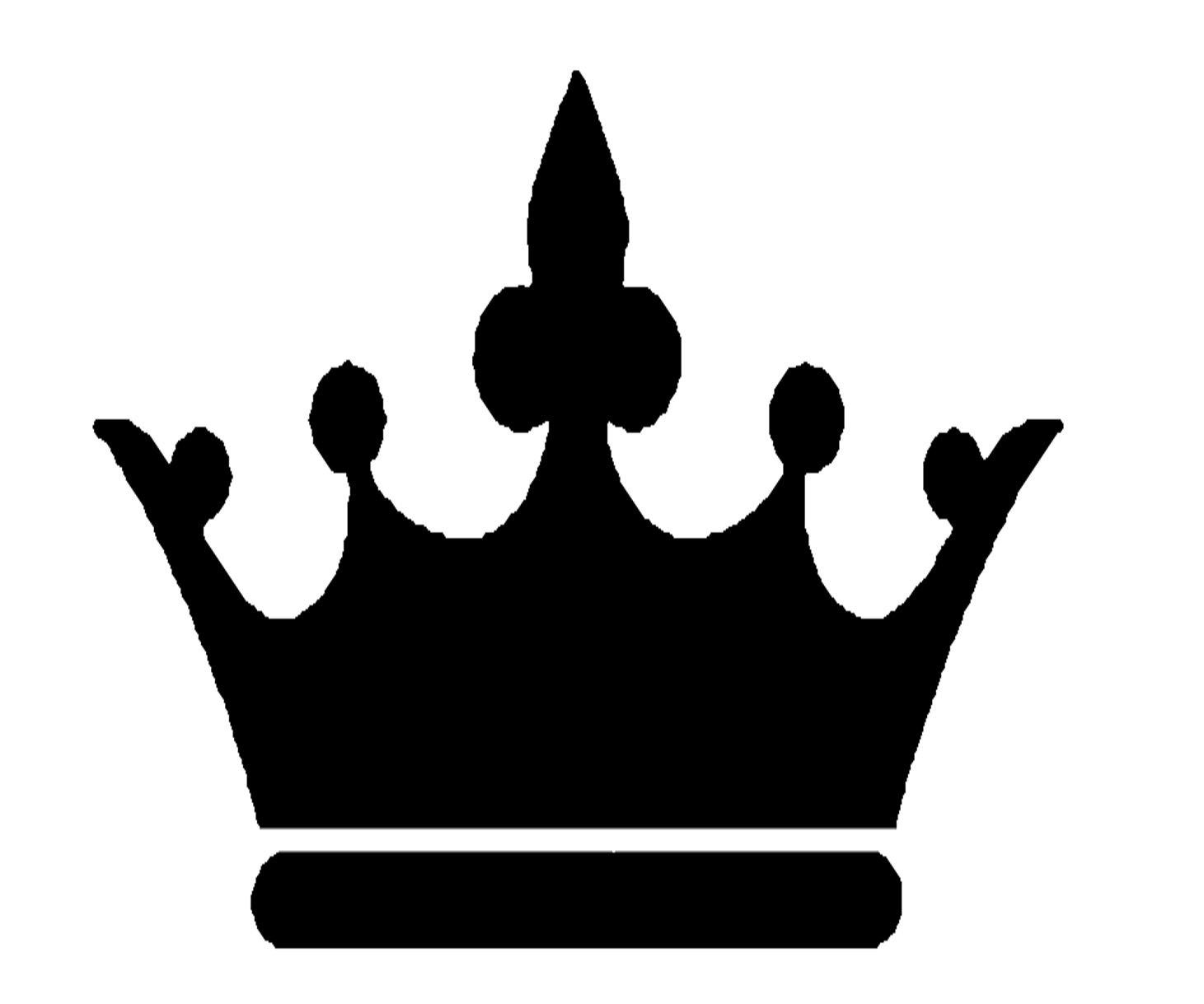 Black Crown Clipart #1-Black Crown Clipart #1-0