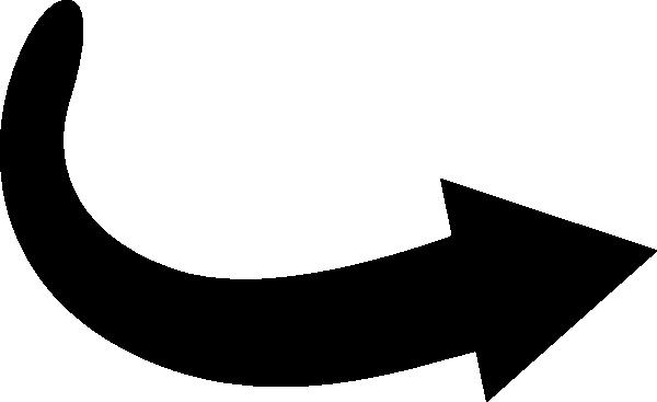 Black Curved Arrow Clip Art At Clker Com Vector Clip Art Online