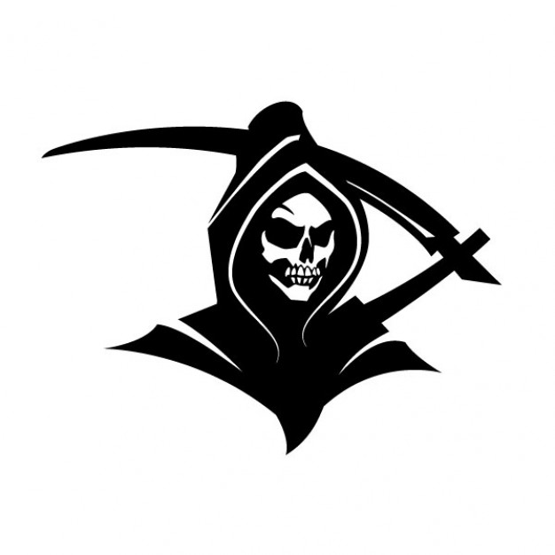 Black death grim reaper clip art Free Vector