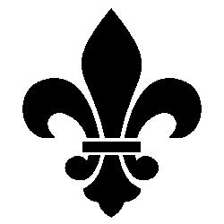 Black Fleur De Lis - Fleur De Lis Clipart